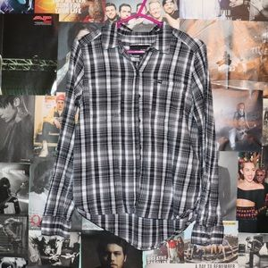 hurley plaid button up